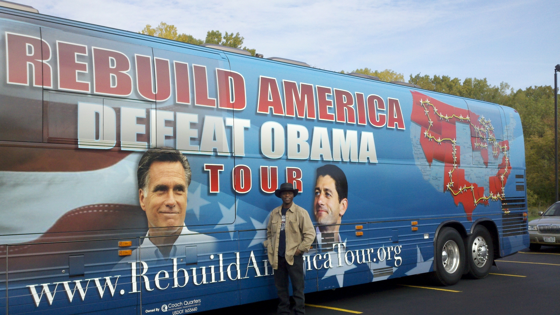 Lloyd Marcus & Defeat Obama Bus