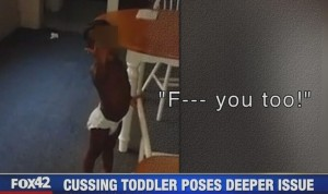 cursing toddler