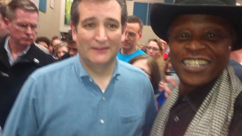 Ted Cruz Rally Iowa & Lloyd Marcus2