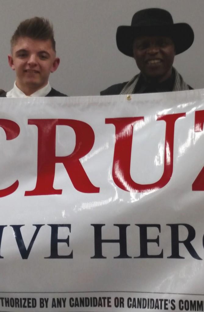 Ted Cruz Nevada Lloyd Marcus and Travis
