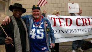 Ted Cruz Rally Iowa Biker & Lloyd Marcus 2