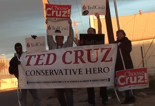 Ted Cruz Texas Abilene Sign Wave