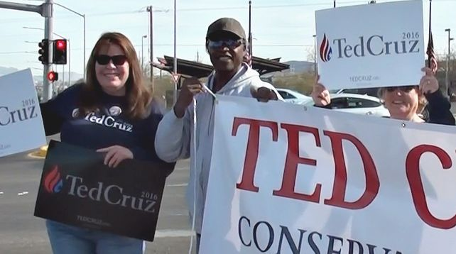 Ted Cruz sign wave henderson NV 1
