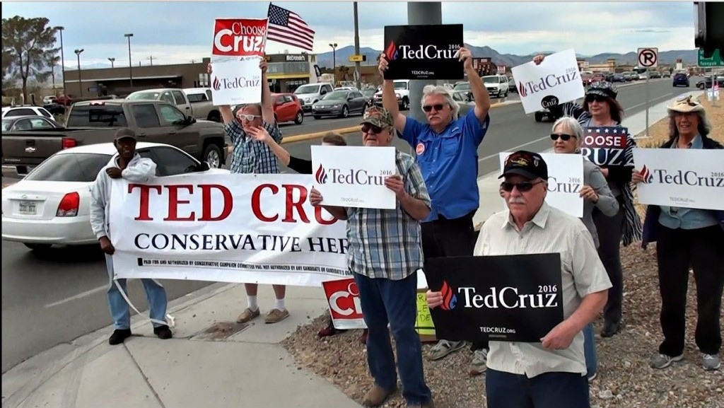 Ted Cruz sign wave pahrump NV 1