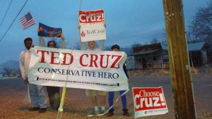 ted cruz sign wave Mina NV