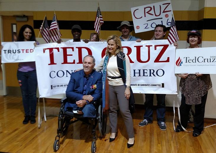 Ted Cruz Heidi NC Rally