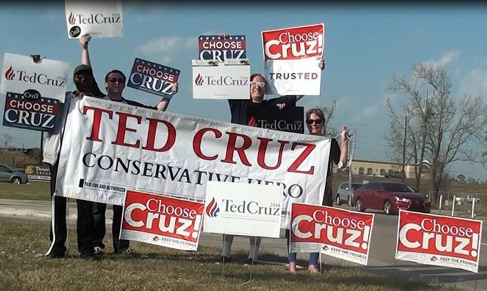 Ted Cruz Louisiana Sign Wave 1