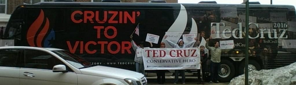 Ted Cruz Wisconsin Fond du Loc Premier Bus