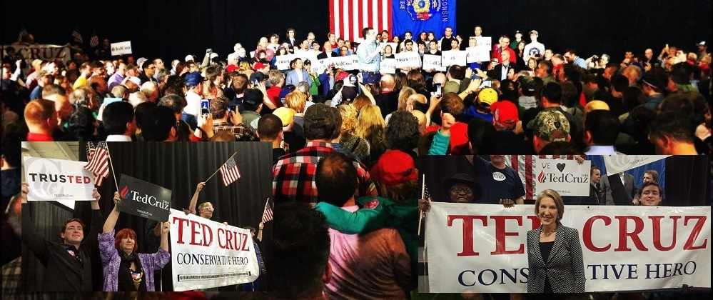 Ted Cruz Wisconsin Wausau Collage