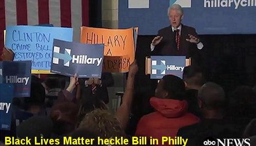 Bill Clinton BLM Hecklers Phillie