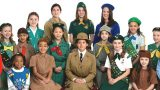 Large group of girl scouts of all ages