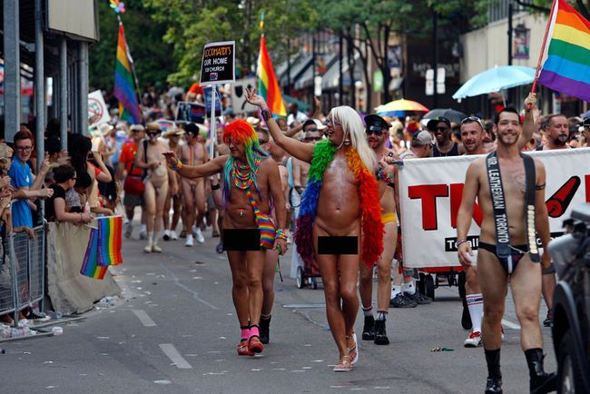 Why is there so much routine nudity at Gay Pride parades.